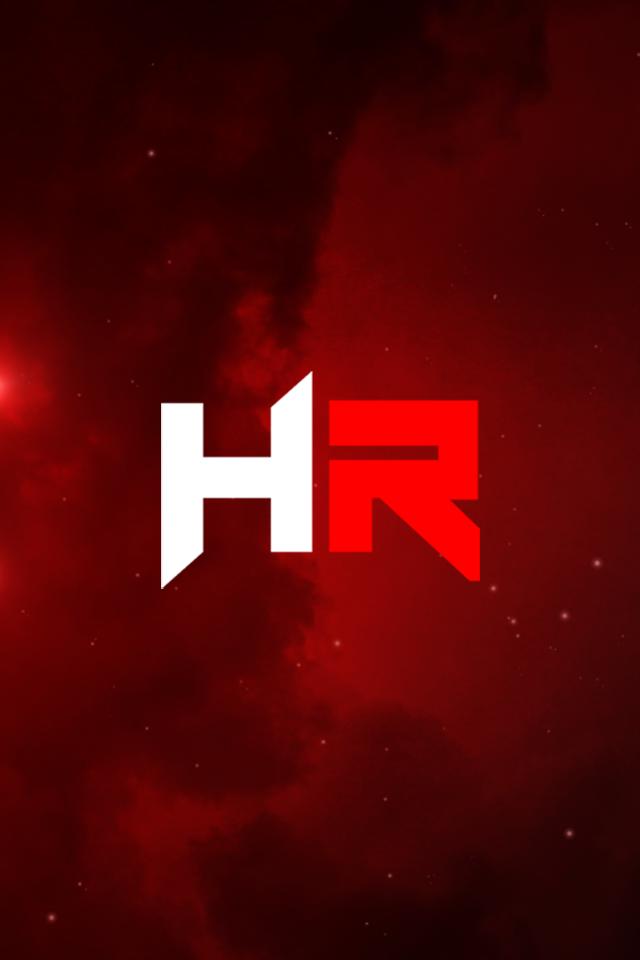 Black Hr Logo Iphone  Wallpaper